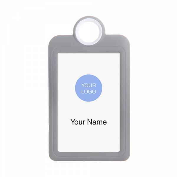 Kolorowy identyfikator - wersja pionowa - szary