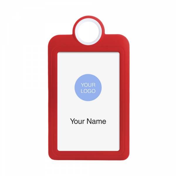 Kolorowy identyfikator - wersja pionowa - czerwony