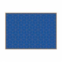 Placemat Hexagon Blue-Brown