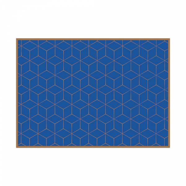 Podkładka Hexagon niebiesko-brązowa