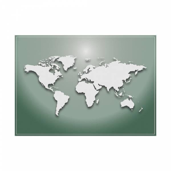 Podkładka Mapa świata w kolorze zielonym