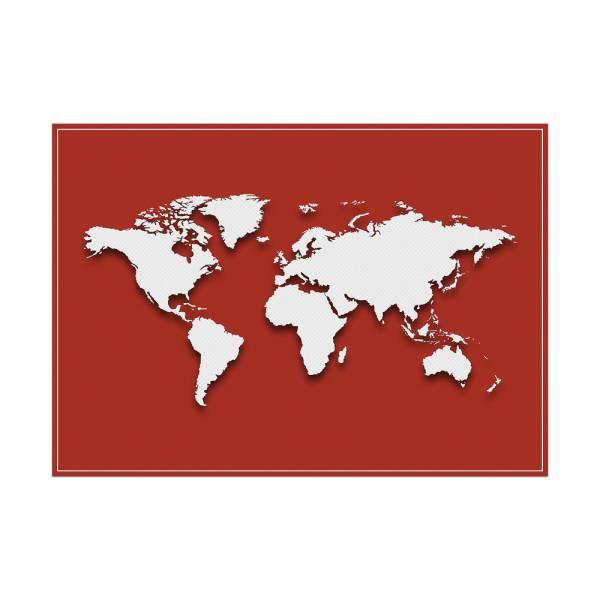 Podkładka Mapa świata w kolorze czerwonym
