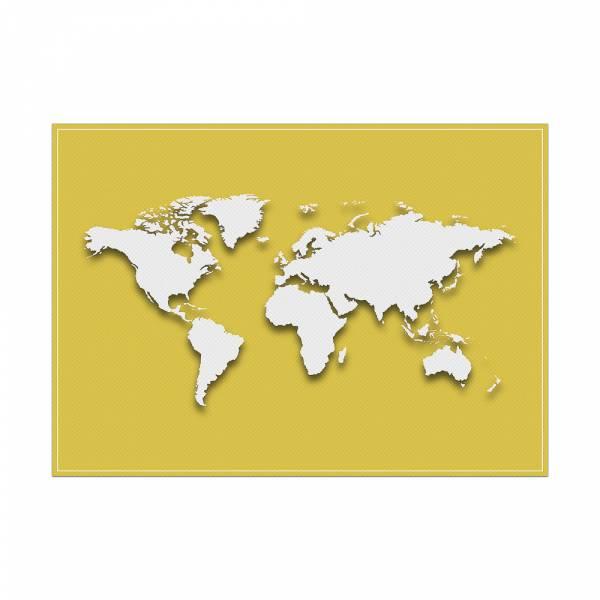Podkładka Mapa świata w kolorze żółtym
