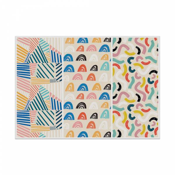 Podkładka kolorowe kształty 1