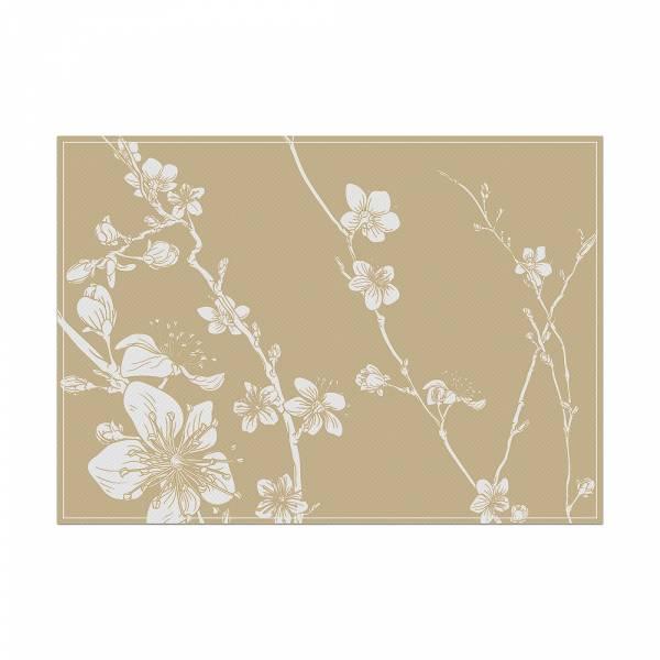 Podkładka beżowe Japońskie kwiaty wiśni