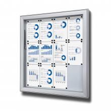 Gablota do użytku zewnętrzenego typu L, format 12xA4