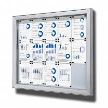 Gablota do użytku zewnętrzenego typu L, format 15xA4