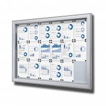 Gablota do użytku zewnętrzenego typu L, format 18xA4