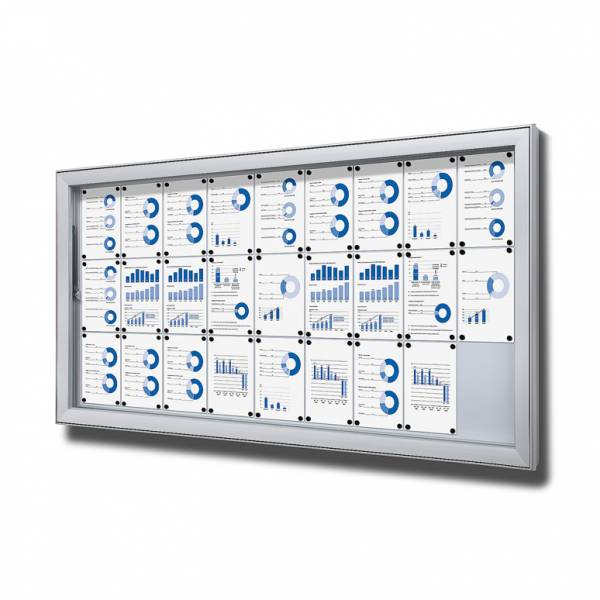 Gablota do użytku zewnętrzenego typu L, format 27xA4