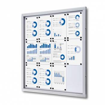 Gablota informacyjna w formacie 12xA4 , plecy wykonane z blachy