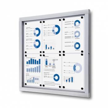 Gablota informacyjna w formacie 6xA4 , plecy wykonane z blachy