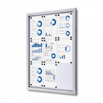 Gablota informacyjna w formacie 9xA4 , plecy wykonane z blachy