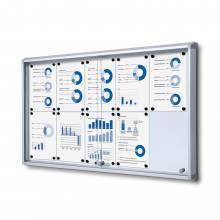 Gablota magnetyczna z przesuwanymi drzwiami 10xA4