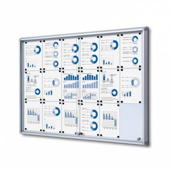 Gablota magnetyczna z przesuwanymi drzwiami 18xA4