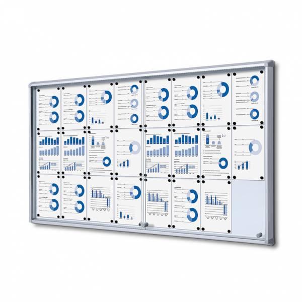 Gablota magnetyczna z przesuwanymi drzwiami 24xA4