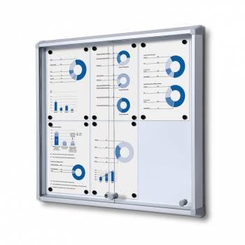 Gablota magnetyczna z przesuwanymi drzwiami 6xA4