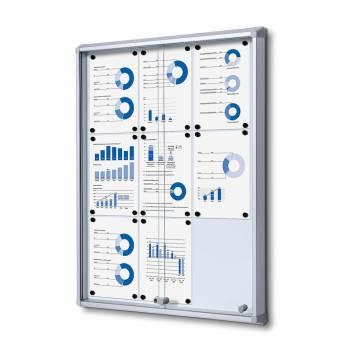 Gablota magnetyczna z przesuwanymi drzwiami 9xA4