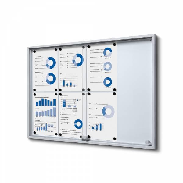 Wewnętrzna gablota 8xA4 SLIM, przesuwane drzwi, metalowe plecy