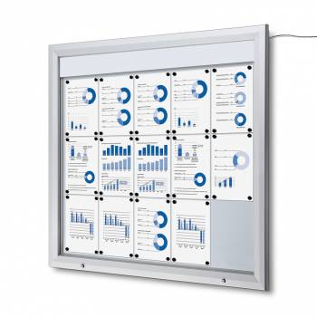 Gablota zewnętrzna typu T 15xA4 - podświtlana LED