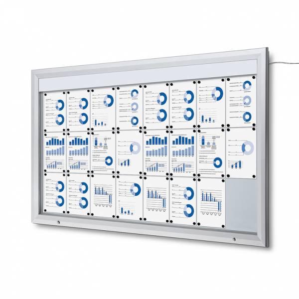 Gablota zewnętrzna typu T 24xA4 - podświtlana LED