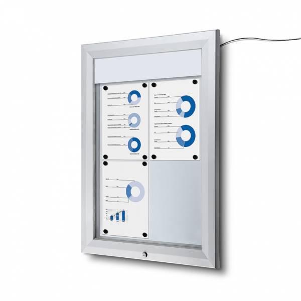 Gablota zewnętrzna typu T 4xA4 - podświtlana LED
