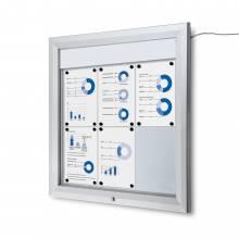 Gablota zewnętrzna typu T 6xA4 - podświtlana LED