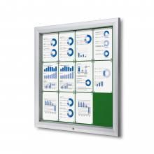 Gablota zewnętrzna SCT 12xA4- filcowa zielona powierzchnia