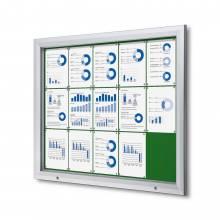 Gablota zewnętrzna SCT 15xA4- filcowa zielona powierzchnia
