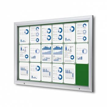 Gablota zewnętrzna SCT 18xA4- filcowa zielona powierzchnia
