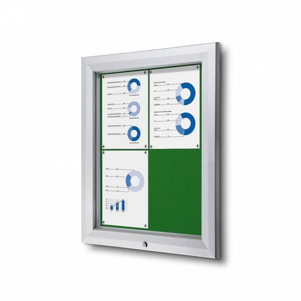 Gablota zewnętrzna SCT 4xA4- filcowa zielona powierzchnia