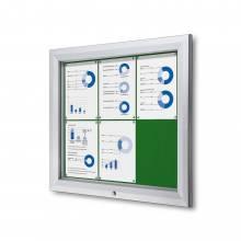 Gablota zewnętrzna SCT 6xA4- filcowa zielona powierzchnia