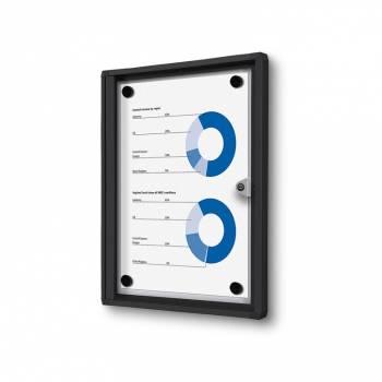 Gablota magnetyczna do użytku wewnętrznego 1xA4 czarna
