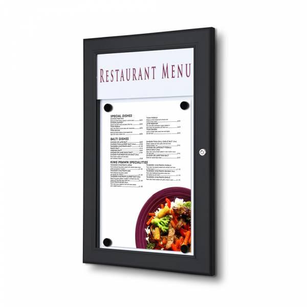 Gablota ogłoszeniowa na menu 1xA4 czarna