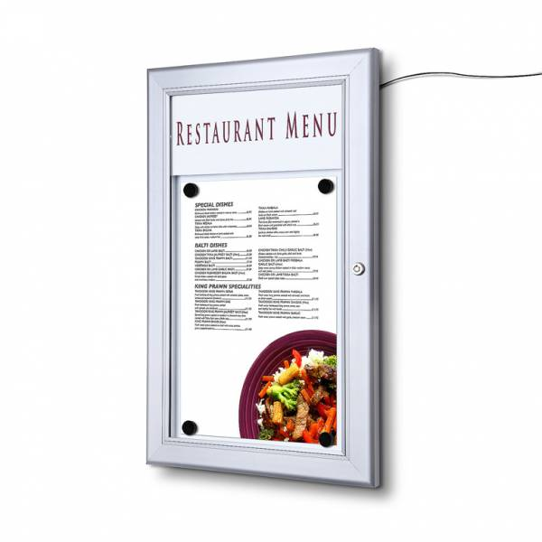 Zewnętrzna gablota na menu 1xA4 LED