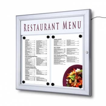 Zewnętrzna gablota na menu 2xA4 LED