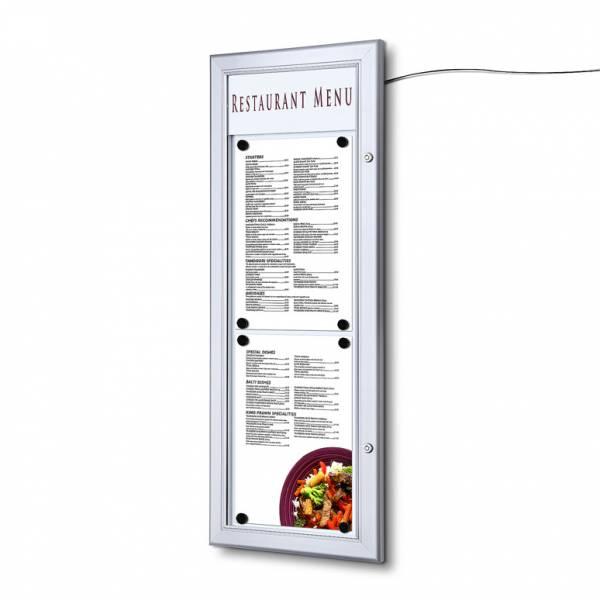Zewnętrzna gablota na menu 2xA4 T LED