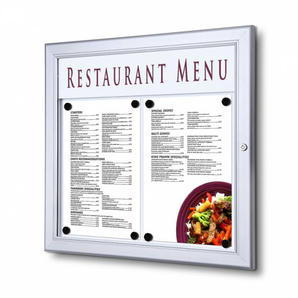 Zewnętrzna gablota na menu 2xA4