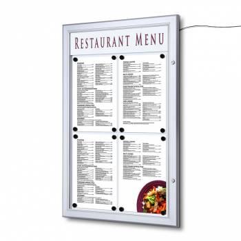 Zewnętrzna gablota na menu 4xA4 LED