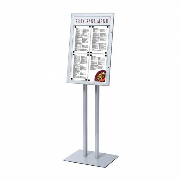 Stojak na menu z gablotą SCZ 4xA4 - podświetlany LED