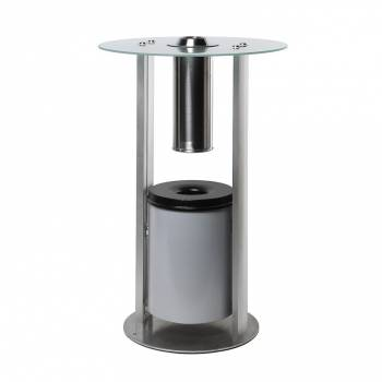 Stolik szklany z popielniczką