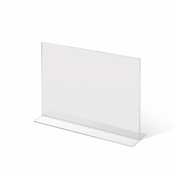 Akrylowy stojak informacyjny typu T A4 poziomo
