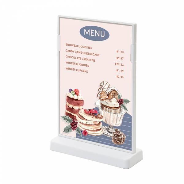 Informacyjny stojak SCRITTO - T - format A5, kolor biały