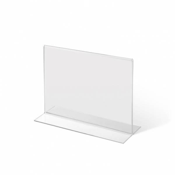 Akrylowy stojak informacyjny typu T A5 poziomo