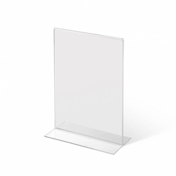 Akrylowy stojak informacyjny typu T A5 pionowo
