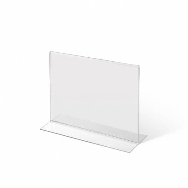 Akrylowy stojak informacyjny typu T A6 poziomo