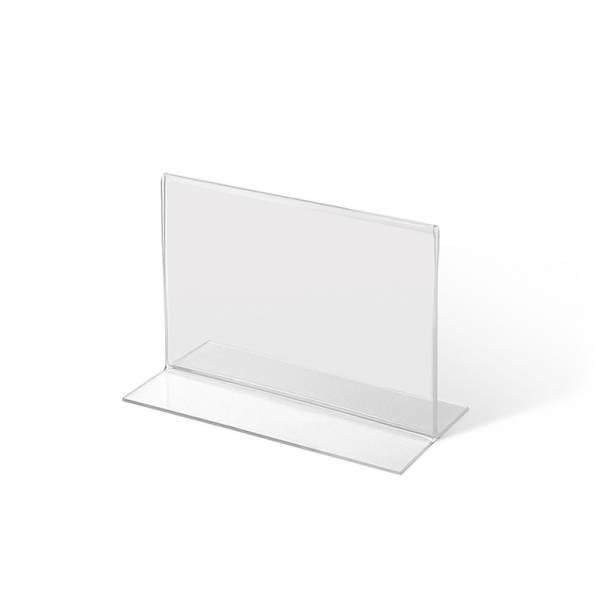 Akrylowy stojak informacyjny typu T A7 poziomo