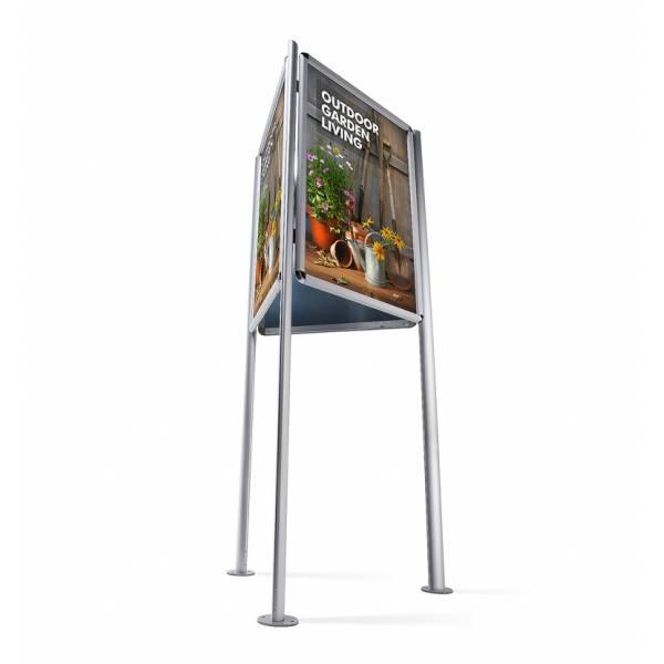 Trzystronny stojak do użytku zewnętrznego A0