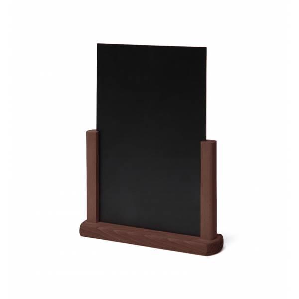 Solidne drewniane stojaki na menu A4 , ciemny brąz