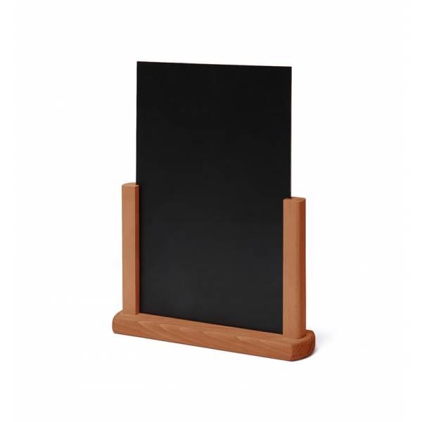 Solidne drewniane stojaki na menu A5 , jasny brąz