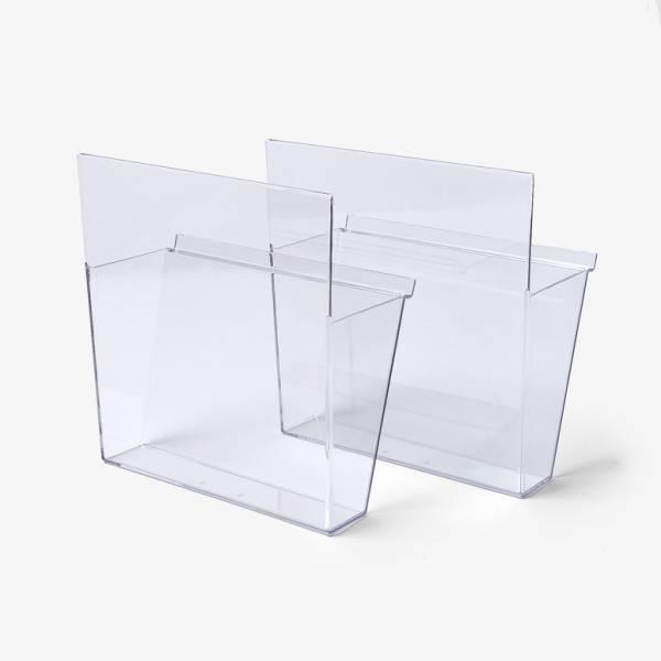 Zestaw 2 akrylowych półek